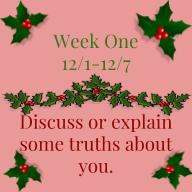 Discuss or explain some truths about you.